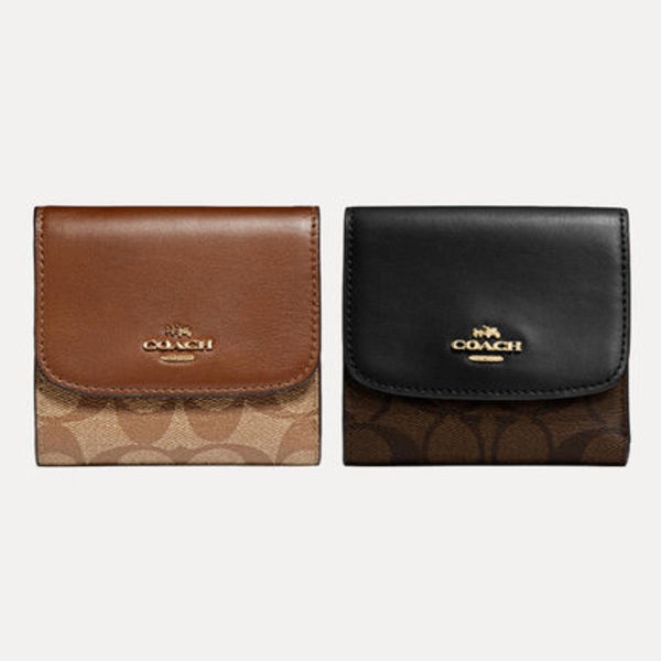 Coach【国内発送・関税込】Signature Canvas Compact Wallet