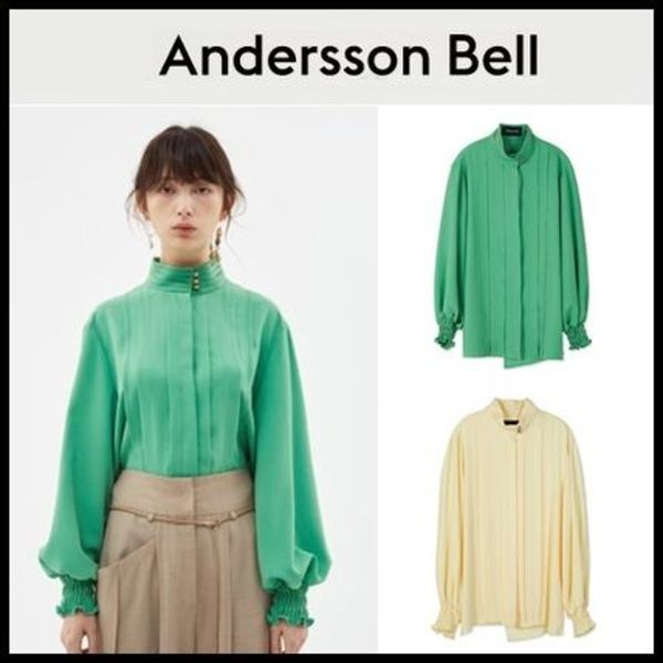 [ANDERSSON BELL] IU着用 KATIE TUCK BLOUSE atb274w