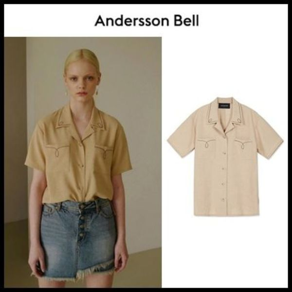 ☆ANDERSSON BELL☆ (WOMEN) SARAH COLLAR EMBROIDERED SHIRT