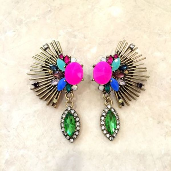 【import】*neonpink colorfulwing ピアス/イヤリング