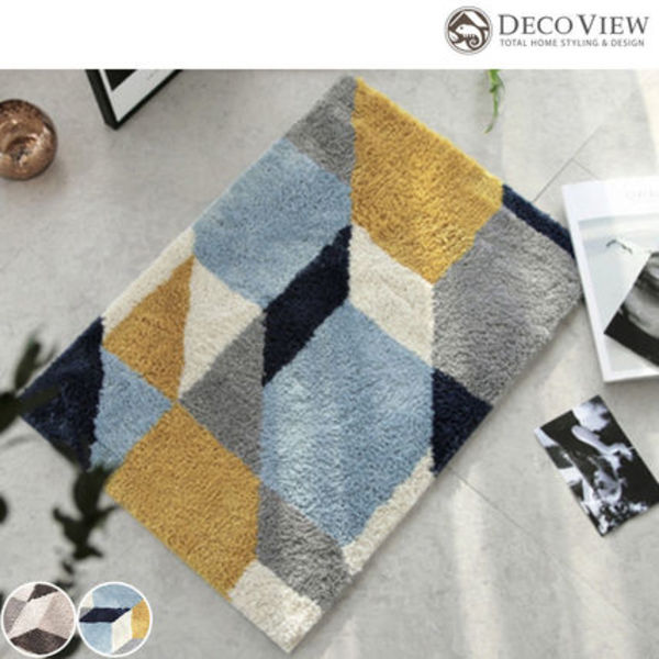 DECO VIEW ★Modern Point Premium Foot Mat 2カラー -65 X 45