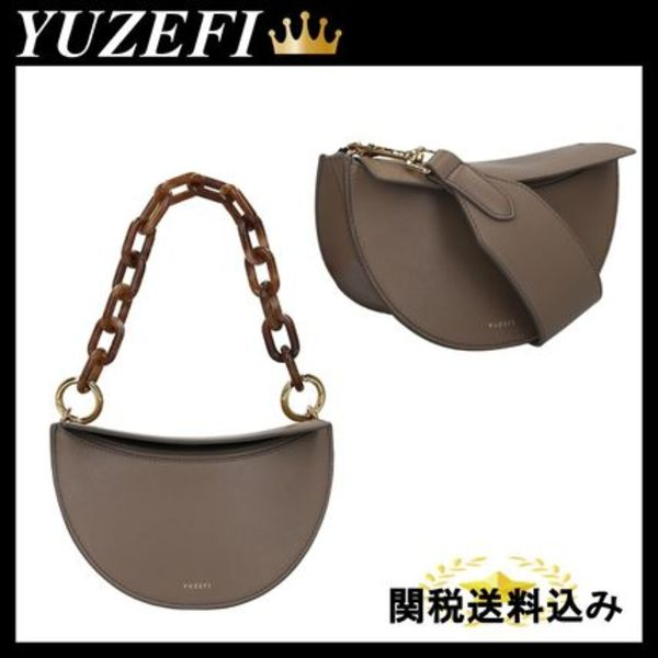 YUZEFI DORIS SHOULDER BAG IN SMOOTH LEATHER