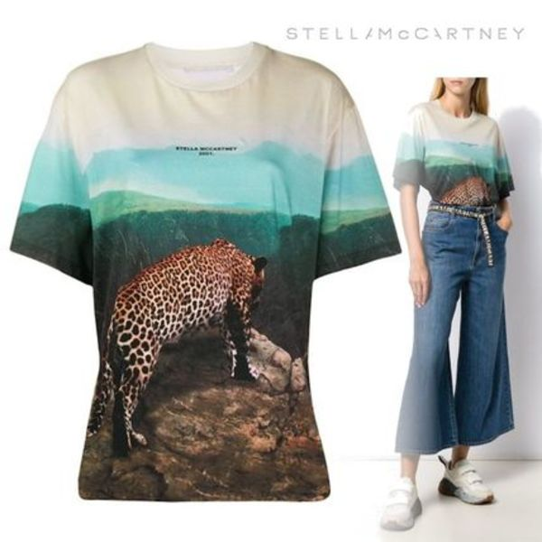 新作◆STELLA MACCARTNEY◆T-shirt 'Leopard Scene'