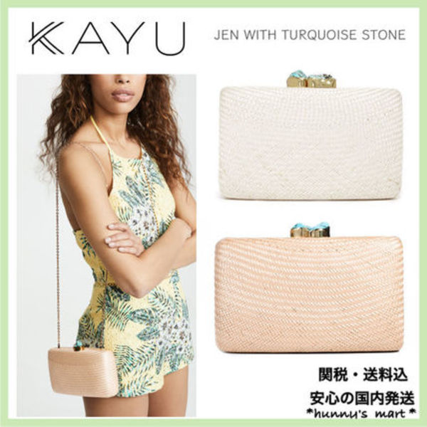 【KAYU】関送込 JEN WITH TURQUOISE STONE クラッチ バッグ