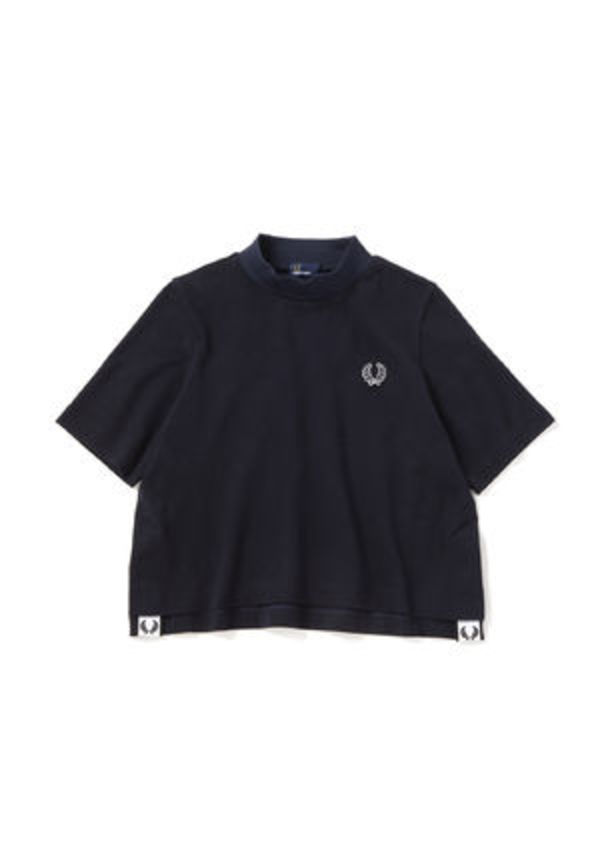 フレッドペリー F5344 01 WOMEN MOCK NECK T-SHIRT NAVY