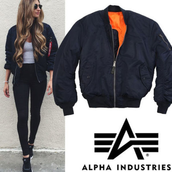 ●ALPHA INDUSTRIES● MA,1 Flight Bomber ジャケット Blue