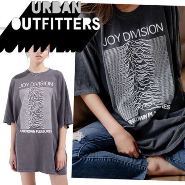 ●UO●人気 Joy Division Unknown Pleasures オーバーサイズT 黒