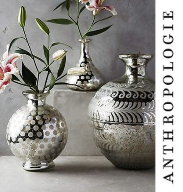 NEW!国内発送Anthropologie*Frosted Mercury 花瓶Sサイズ♪