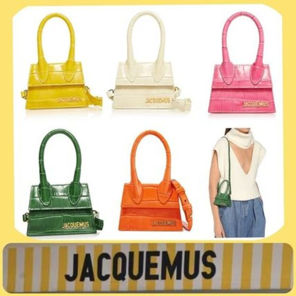 Jacquemus  Le Chiquito croc-effect 鰐川風レザーバッグ全5色