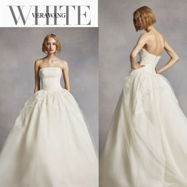 継続ウェディングドレス【White by Vera Wang】Twill Gazar Lace