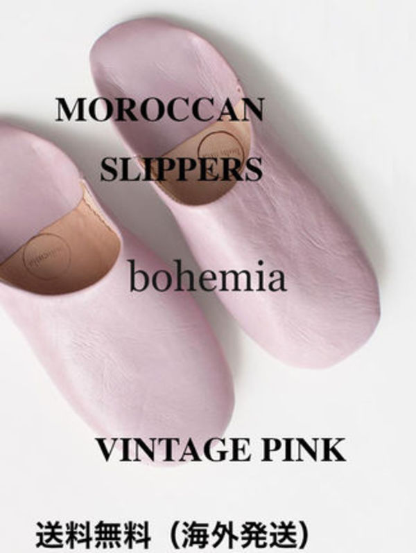 ♡bohemia ♡MOROCCAN SLIPPERS, VINTAGE PINK