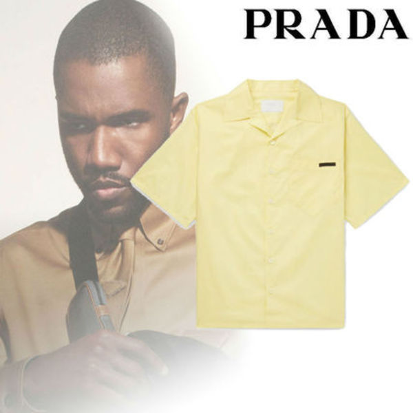 春夏トレンド!Prada Camp-Collar Cotton Shirt