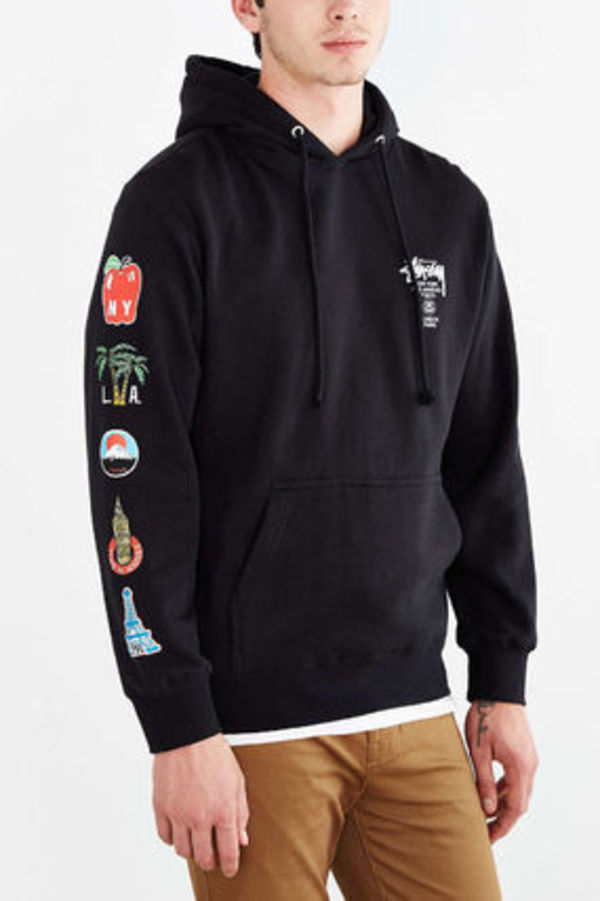 【送料無料】Stussy World Tour Flags Pullover Hooded パーカー