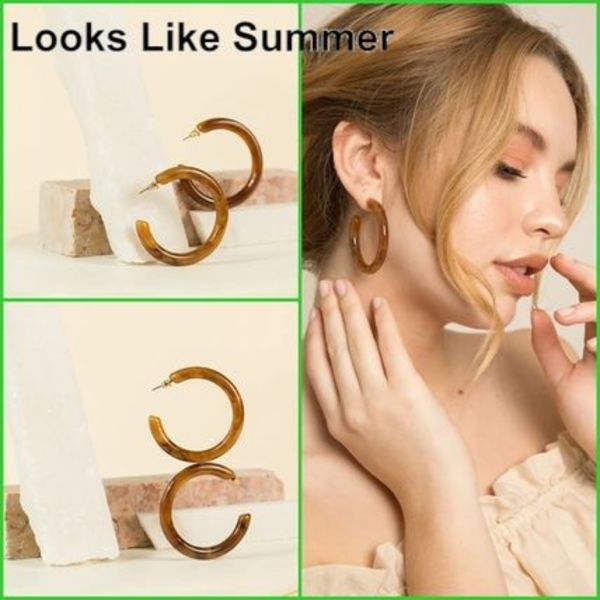 Looks Like Summer【関税込み】スローンピアス-J798