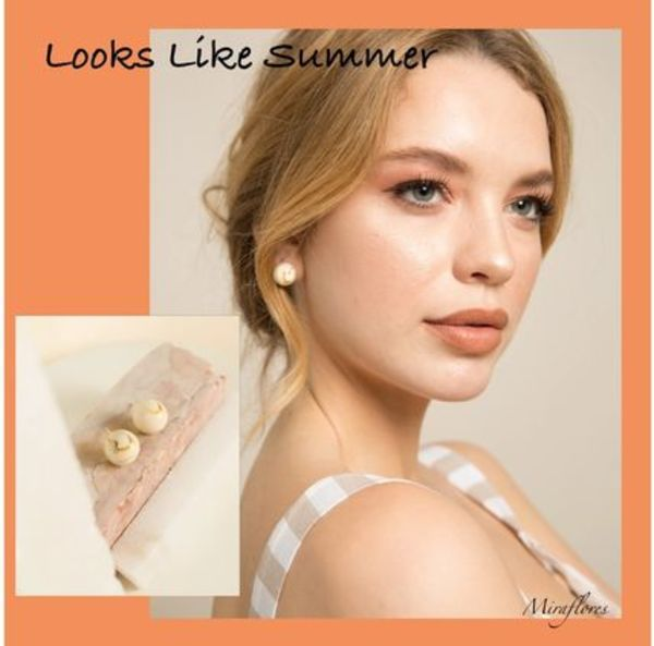 関税送料込【Looks Like Summer】YVONE ピアス IVORY