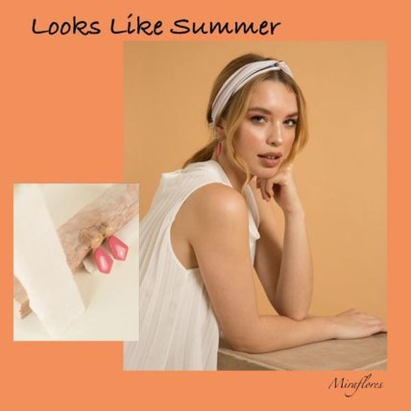 関税送料込【Looks Like Summer】MATHILDA ピアス MAGENTA