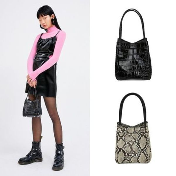 Open the Door ☆ crocodile square tote bag ☆ 全2色