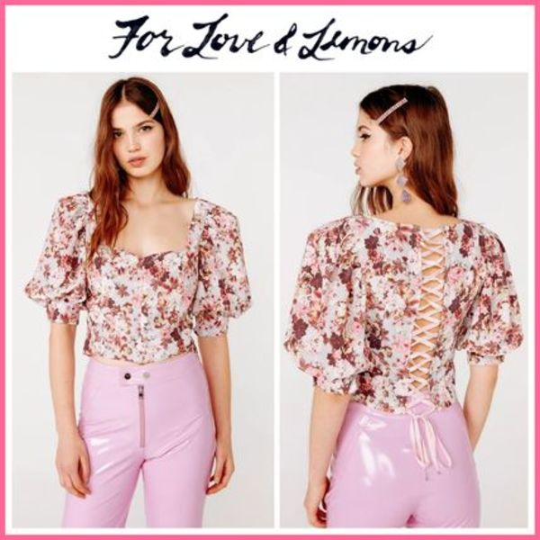 19-20AW!! ☆For Love & Lemons* Houston Lace Up Blouse