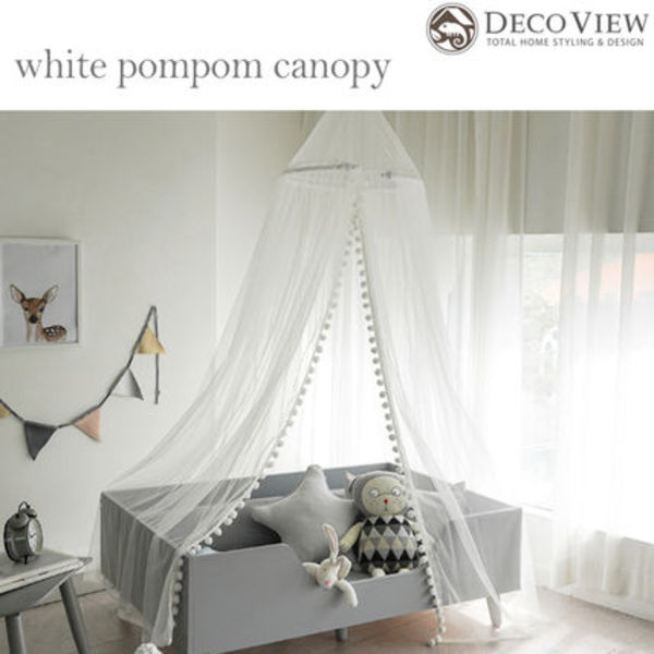 DECO VIEW(デコヴュー) ★WHITE POMPOM CANOPY