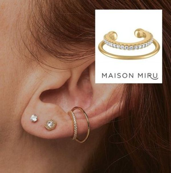 日本未入荷【MAISON MIRU】ETERNITY ECHO EAR CUFF イヤーカフ