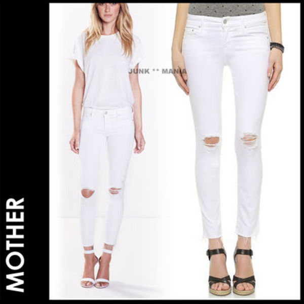 ■SALE★即日発送【関税返金・MOTHER】 LOOKER ANKLE FRAY
