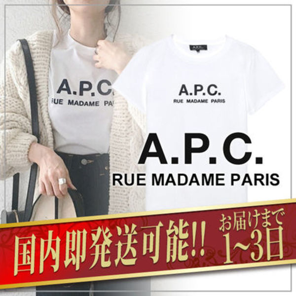 【日本限定】A.P.C. T-SHIRTS JIMMY RUE MADAME ロゴTシャツ