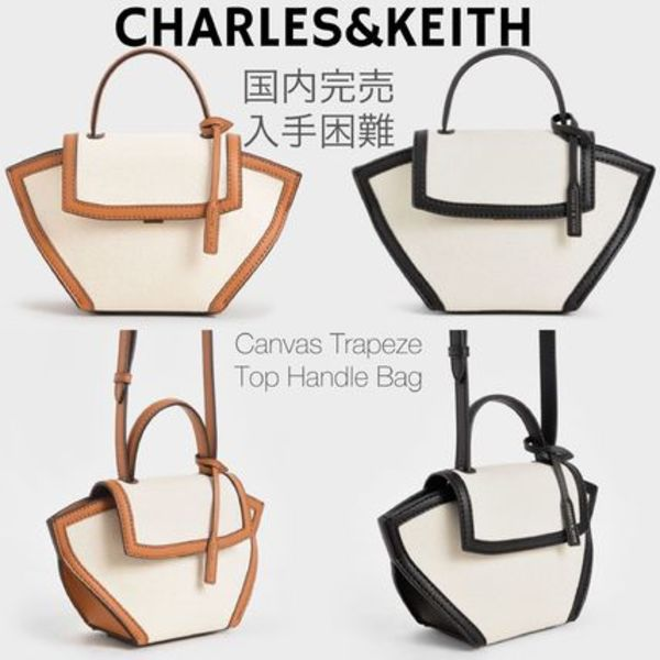 国内完売カラー!送関込☆CHARLES&KEITH Trapeze Top Handle Bag