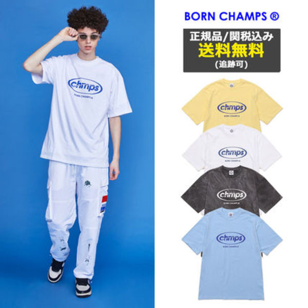 [BORNCHAMPS] CHAMPS ROUND TEE CESBMTS13 4COLOR 韓国