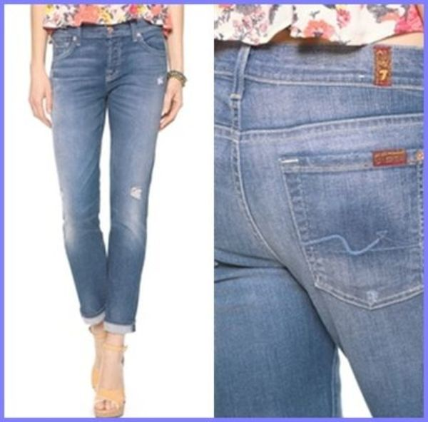 7 For All Mankind スキニーボーイフレンドジーンズ