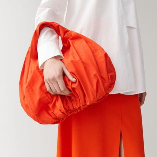 """COS"" SMALL LIGHTWEIGHT SHOPPER VIBRANT ORANGE"