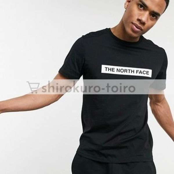 【The North Face】センターフォントロゴ半袖Tシャツ 送料込