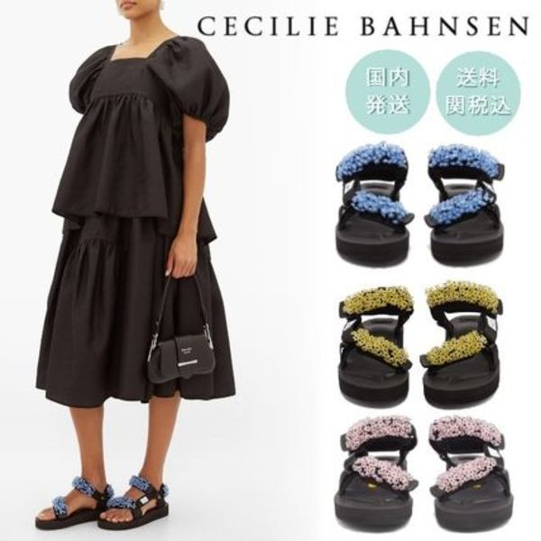 【CECILIE BAHNSEN】x Suicoke マリア ビーズサンダル 3色展開