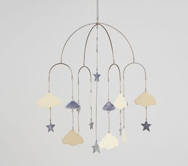 送関込*PotteryBarn*Stars&Cloud Ceiling Mobile/星雲モービル