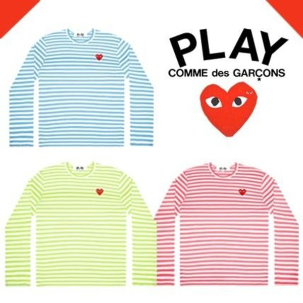 《2020SS》COMME des GARCONS Play ボーダーロンT Ladies