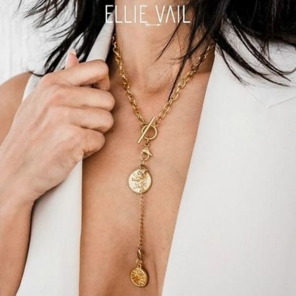 【ELLIE VAIL】ELIZA DOUBLE MEDALLIONネックレス