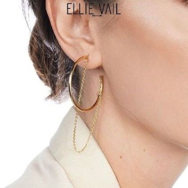 【ELLIE VAIL】CASSIDY CHAIN HOOPピアス