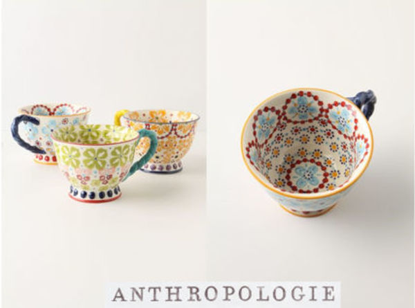 NEW!国内発送  Anthropologie*With A Twistティーカップ♪