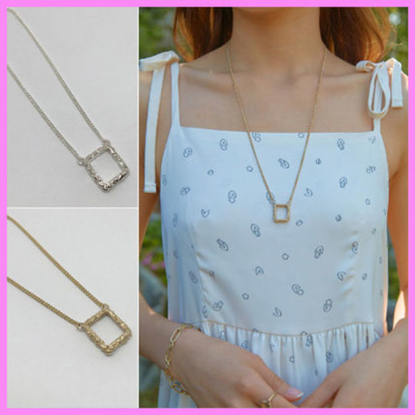 【Party After Dark】Square Necklace Version2〜ネックレス