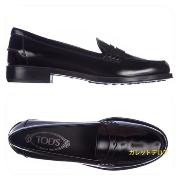 ★TOD'S《トッズ》LEATHER LOAFERS MOCCASIN★BLACK★送料込★