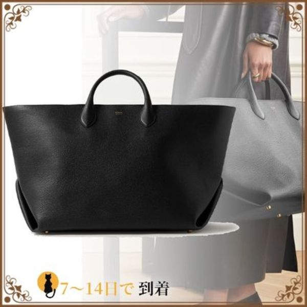 新作★国内発★Envelope Pleat large textured-leather tote