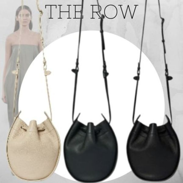 日本未入荷 選べる3色 The Row  Drawstring Pouch in Leather