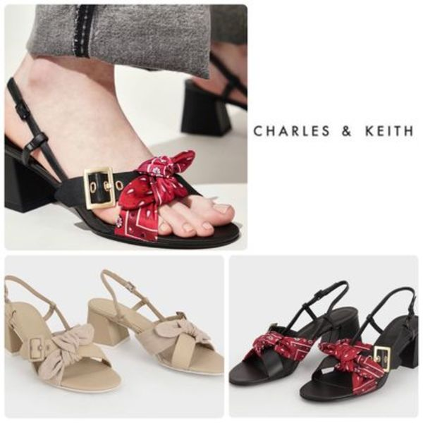 ★CHARLES & KEITH★Tie Slingbacks Sandals サンダル/送料込