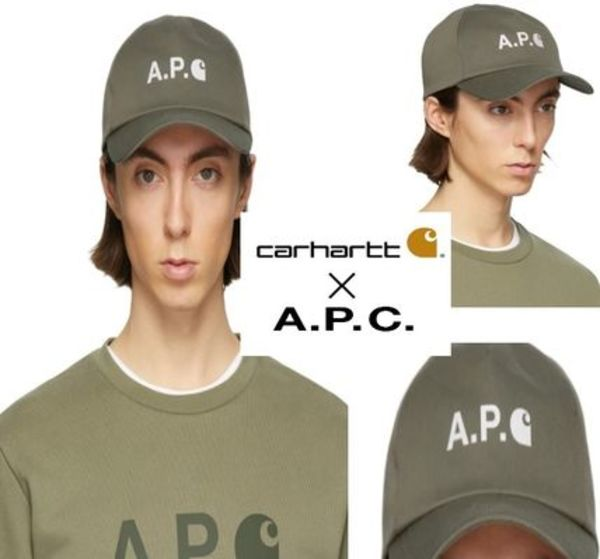 A.P.C. x Carhartt-WIP  Edition カーキ キャップ