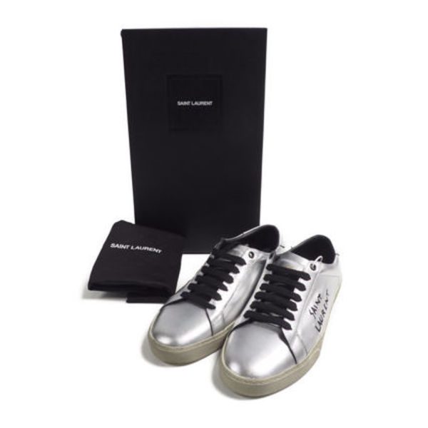 Saint laurent::sl06 leather sneakers:39[RESALE]