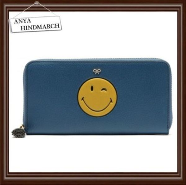 【ANYA HINDMARCH】SMILE ZIP AROUND WALLET☆関税送料込