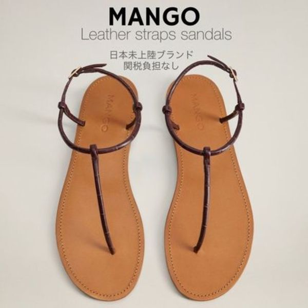 日本未入荷/送関込☆MANGO Leather straps sandals