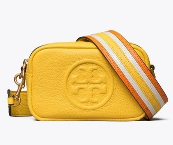 TORY BURCH★PERRY BOMBE PIECED-STRAP MINI BAG レザー 64398