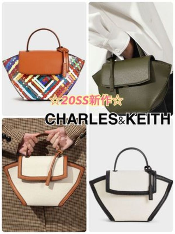 CHARLES&KEITH trapeze top handle bag 新作♡