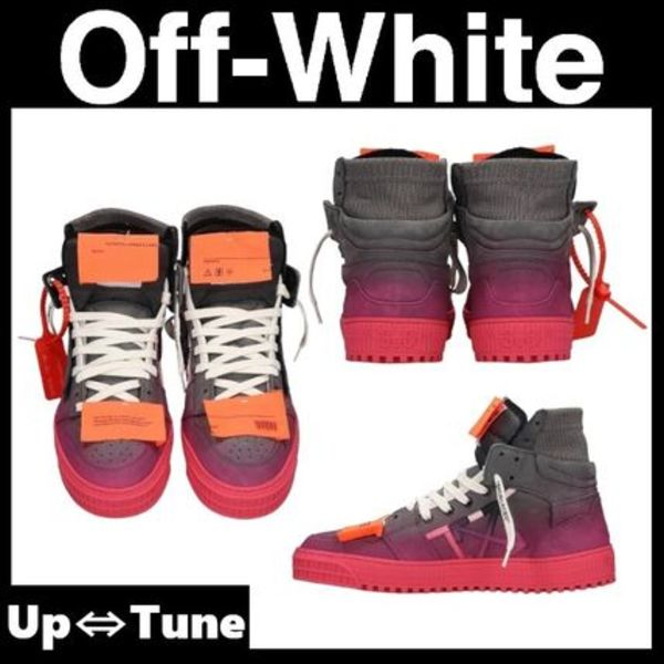 【Off-White】OFF COURT 3.0 ピンク ハイトップスニーカー