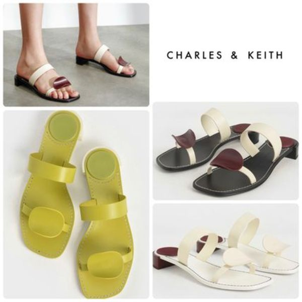 ★CHARLES & KEITH★Double Strap Mules ミュール/送料込